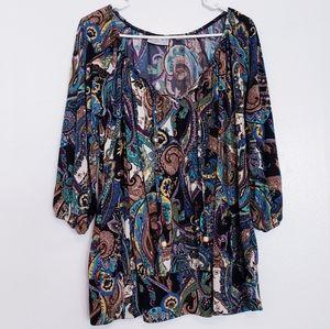 Avenue paisley 3/4 sleeve blouse